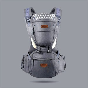 hipseat baby carrier grey