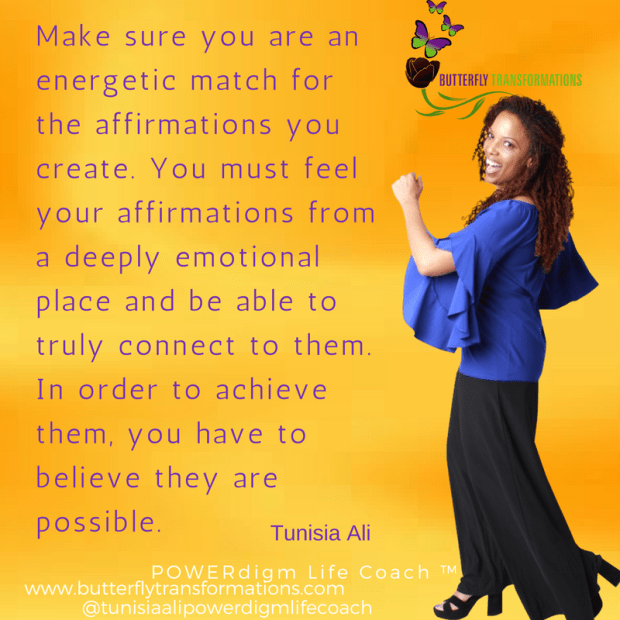 energetic match for affirmations