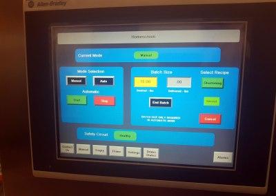 Rework pump control screen