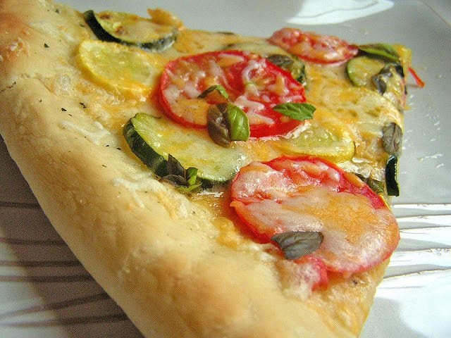 Garden Pizza: Butter with a side of bread