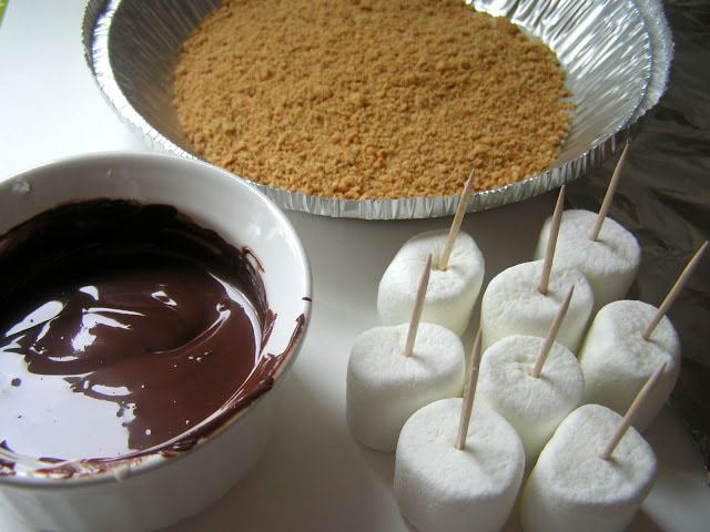 Marshmallow Pops. S'mores on a Stick: Butter with a Side of Bread