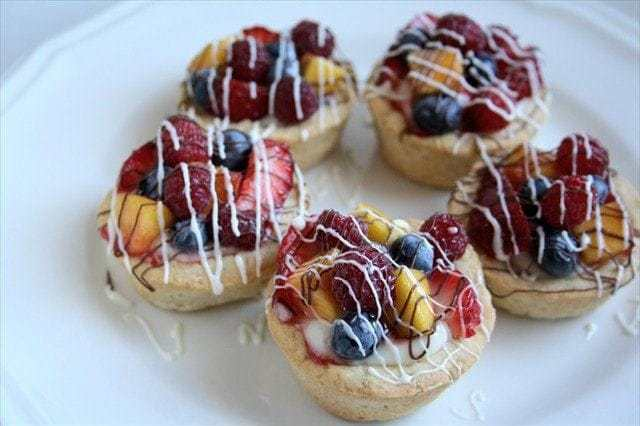 Mini Fresh Fruit Tarts www.ButterwithaSideofBread.com