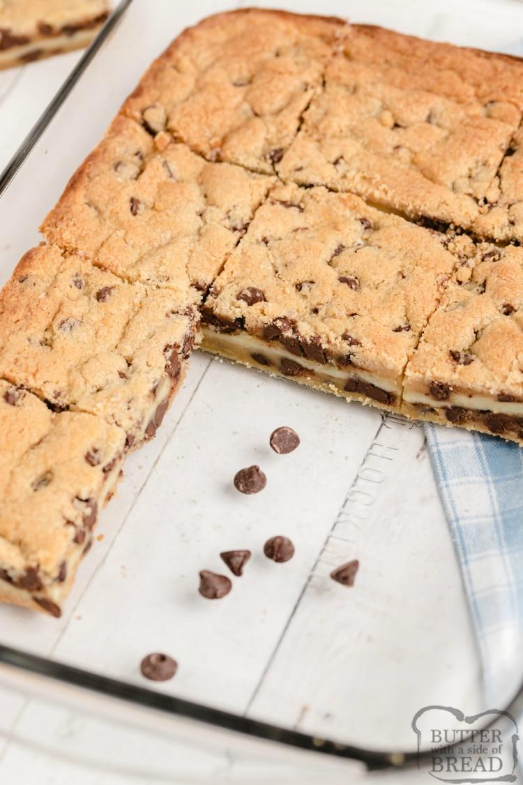 Sliced cookie bars