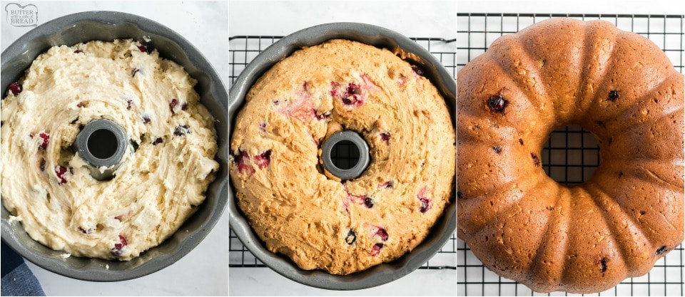 how to make Christmas Cranberry cake recipe