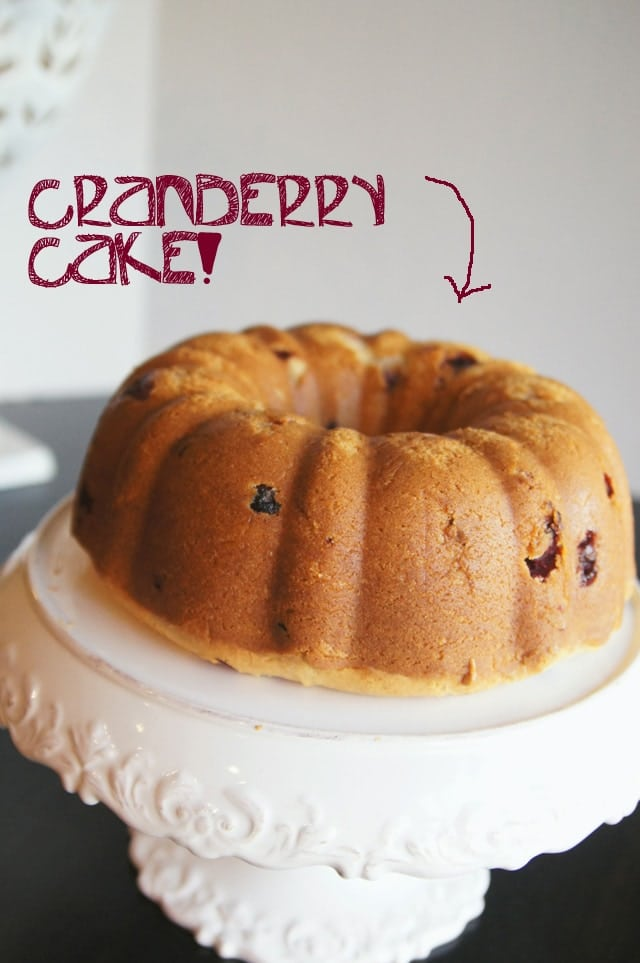 Cranberry Cake is my all time favorite holiday dessert! With this tasty treat fresh out of the oven and butter sauce on top it is completely irresistible!
