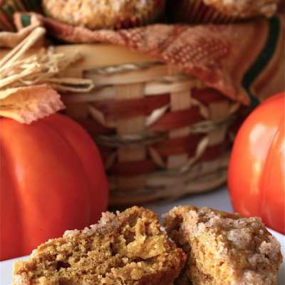 PUMPKIN APPLE STREUDEL MUFFINS