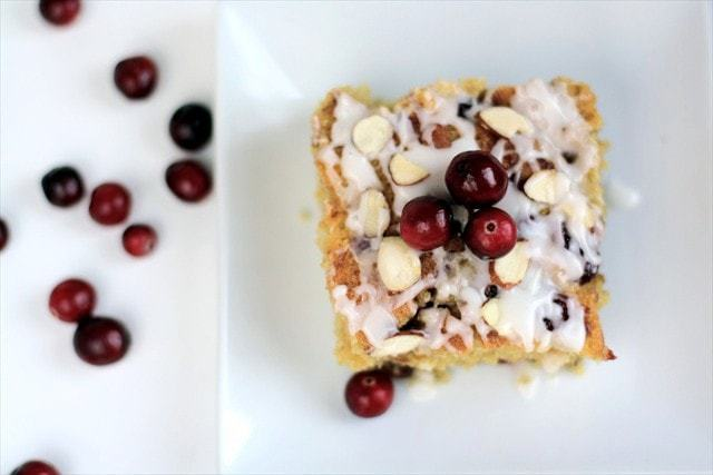 Spiced Cranberry Breakfast Cake: butter with a side of bread