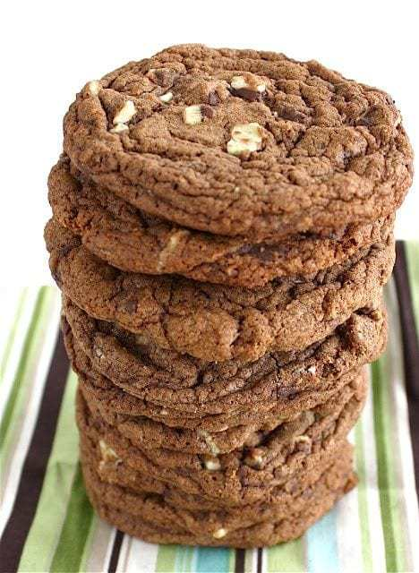 Chocolate Andes Mint Cookies are our go to Christmas cookie! They are chocolaty with the perfect touch of mint! We can't get enough of them!