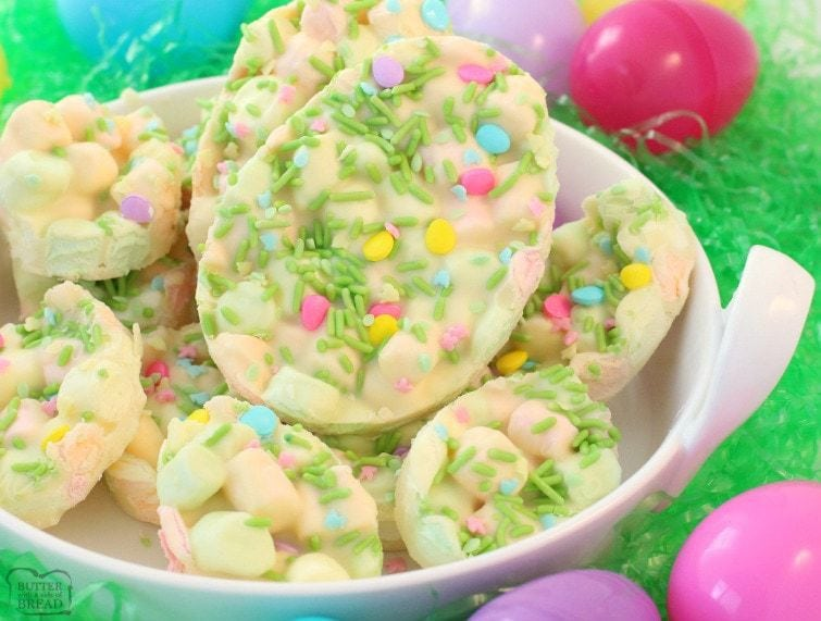 Easy Easter Marshmallow Dessert Butter With A Side Of Bread