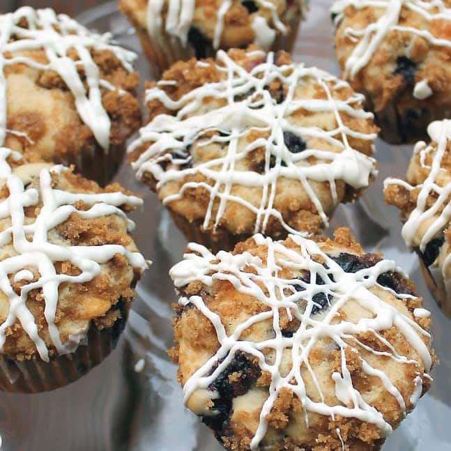 Berry Streusel Muffins: Butter with a side of bread