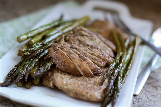 ASIAN COCONUT CHICKEN & ASPARAGUS: Butter with a Side of Bread
