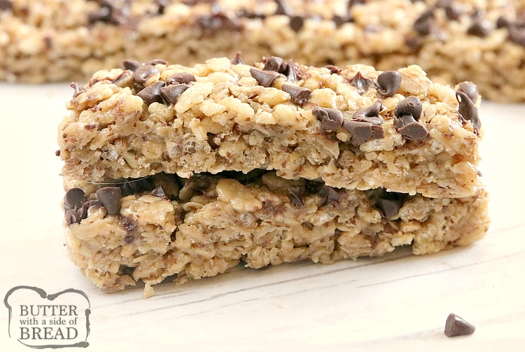 Granola bar recipe with oats and chocolate chips