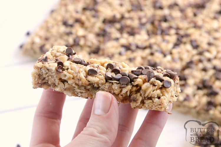 Granola bar recipe with chocolate chips