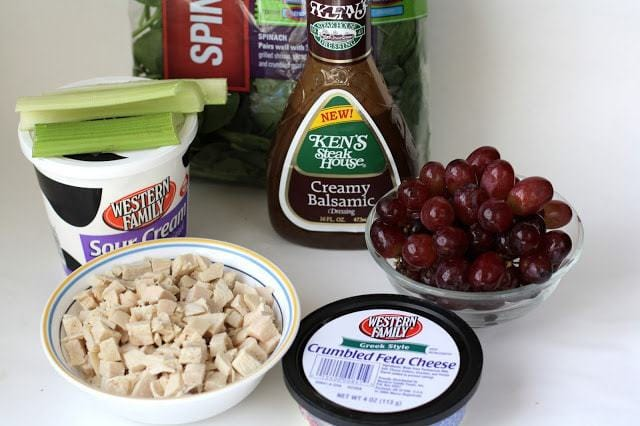 CREAMY BALSAMIC CHICKEN SALAD: Butter with a Side of Bread