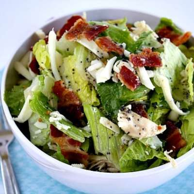 BACON CHICKEN SALAD WITH RASPBERRY POPPY SEED DRESSING