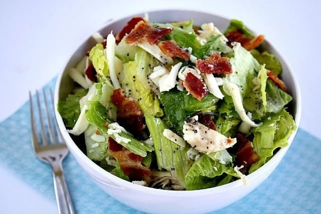 Butter With a Side of Bread: Bacon Chicken Salad w/Raspberry Poppy Seed Dressing