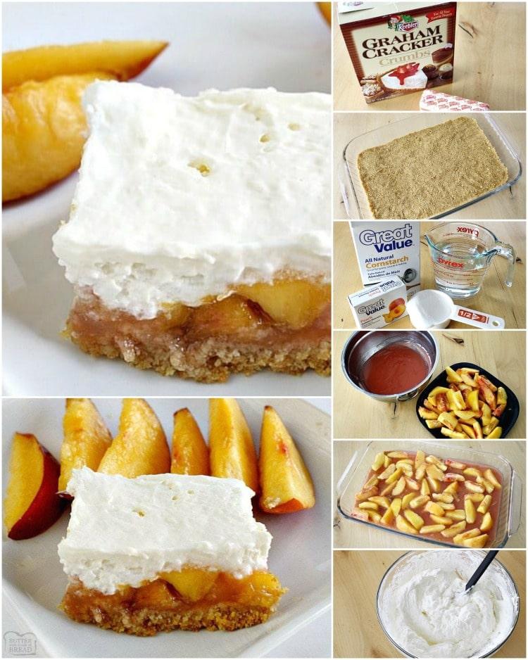 how to make no bake peaches and cream bars recipe