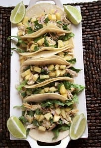 CHICKEN PINEAPPLE TACOS: Butter with a Side of Bread