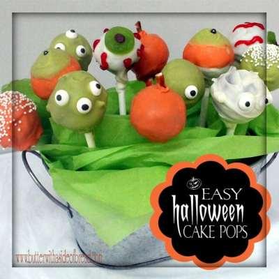 EASY HALLOWEEN CAKE POPS {Pinterest Fail Included}