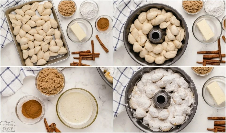 directions showing how to make Monkey Bread