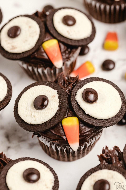 How to make Oreo Owl Cupcakes