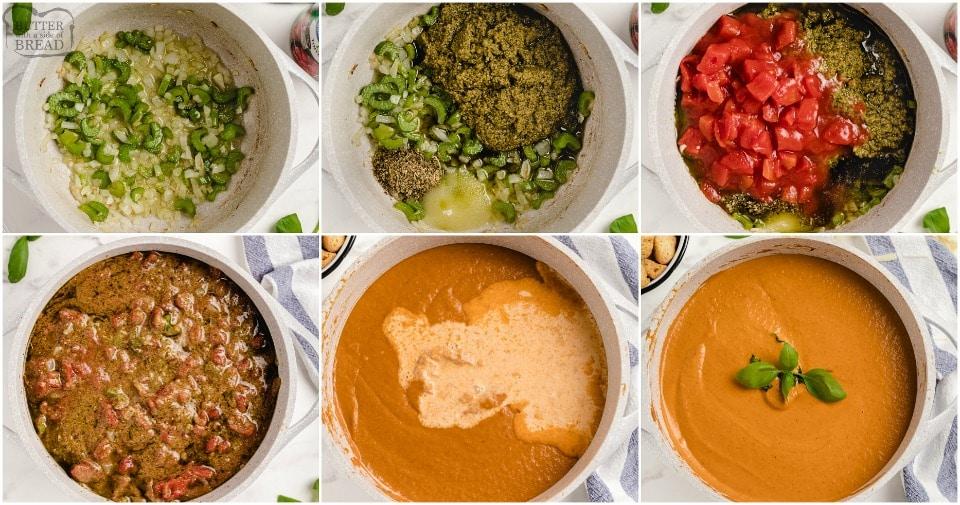 how to make Tomato Basil Soup recipe