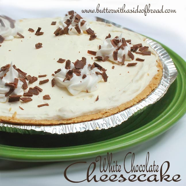 This White chocolate Cheesecake is so easy (since you don't have to bake it!) and is a definite crowd pleaser.