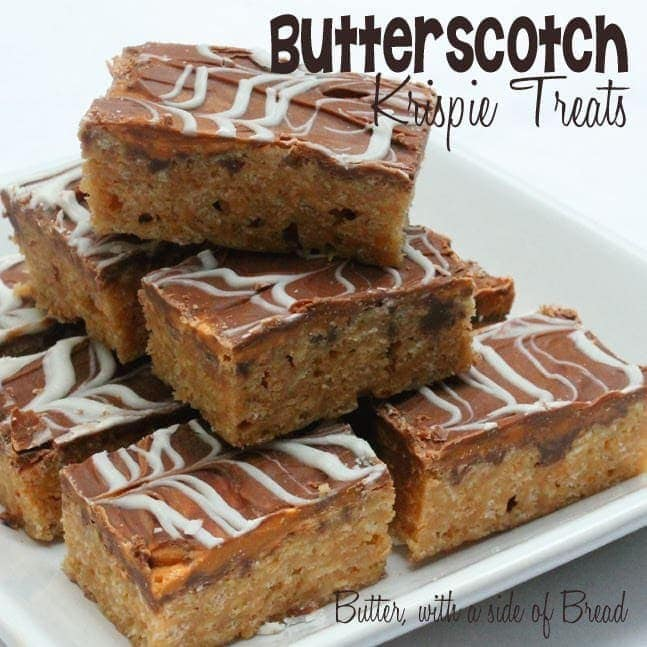 Butterscotch Krispie Treats are the best Krispie Treats to make this time of year! They are quick, easy, and oh so tasty! You won't be able to get enough!