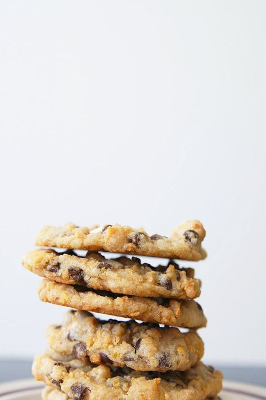 Milk Bar Cornflake Marshmallow Cookies just like the ones served in Momofuku Milk Bar in NYC! I think my version is even BETTER...and they're easier to make! See my tips and tricks on making these incredible cornflake chocolate chip cookies in your own kitchen.