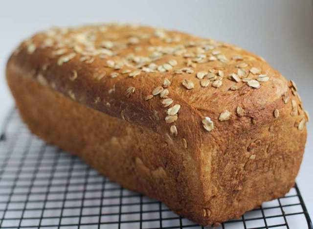 Honey Oat Bread is one of my favorite bread recipes! The oats give it a great texture and the honey the best flavor! As always the best part is the aroma of freshly baked bread all throughout the house!