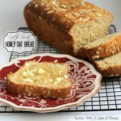 SOFT & SWEET HONEY OAT BREAD