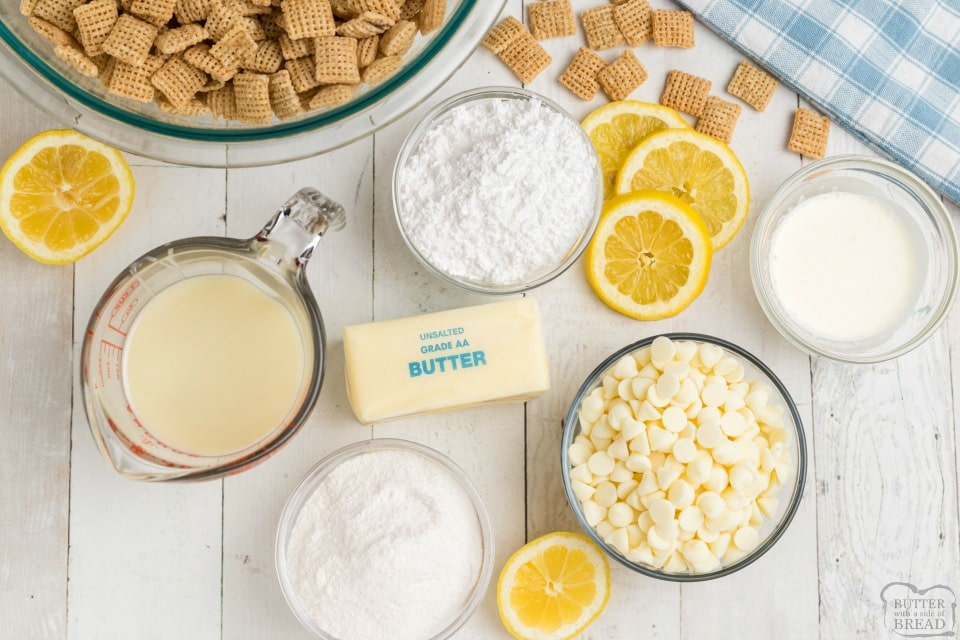 White Chocolate Lemon Muddy Buddies recipe