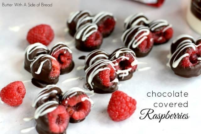 CHOCOLATE COVERED RASPBERRIES featuring Chocoley products: Butter With A Side of Bread