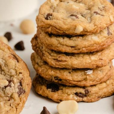 Coconut Macadamia Nut Chocolate Chip Cookies