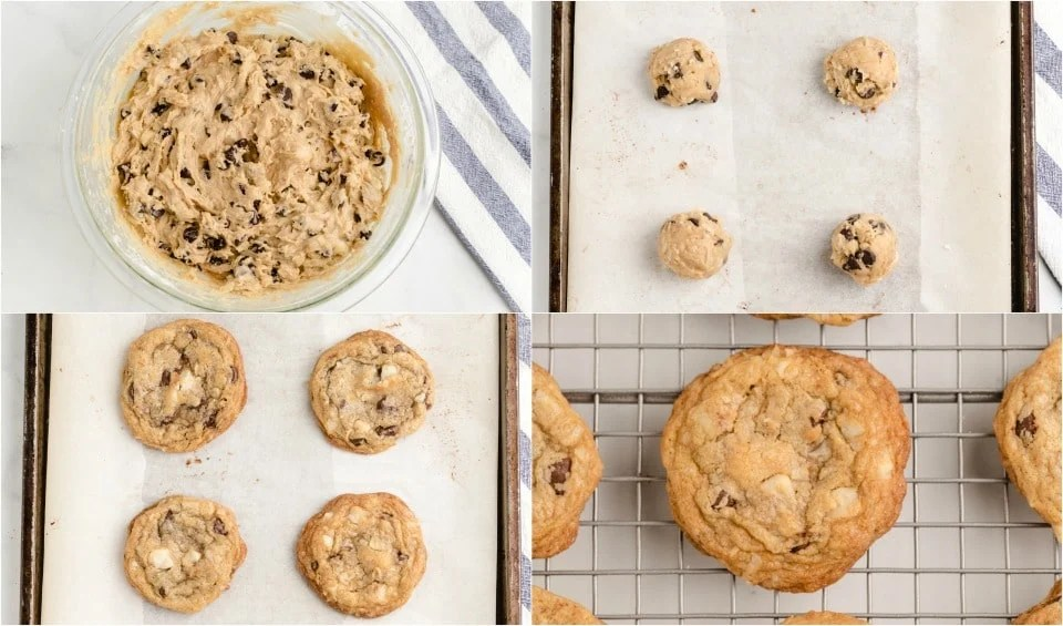 How to make Coconut Macadamia Nut Chocolate Chip Cookies