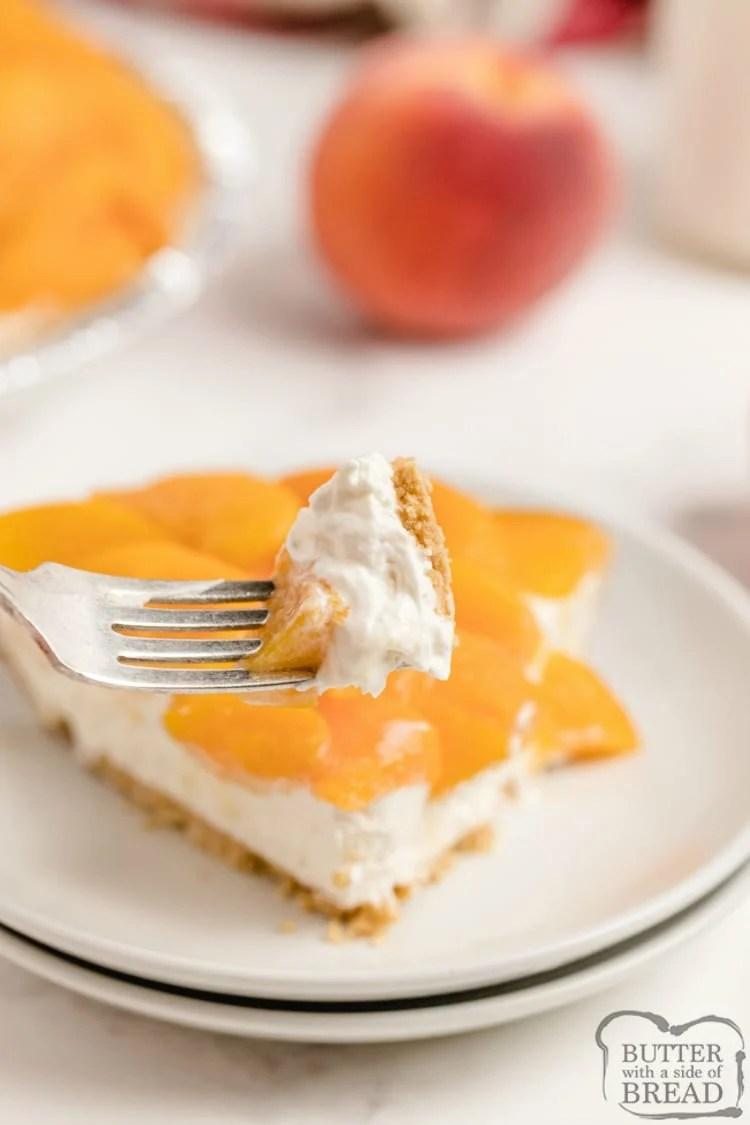 No bake cheesecake recipe with fresh peaches