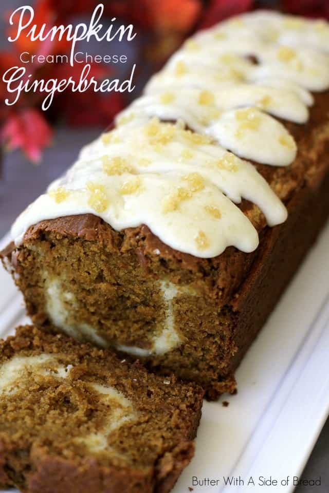 Pumpkin Cream Cheese Gingerbread Butter With A Side Of Bread