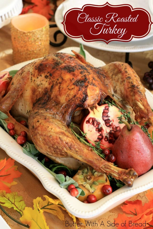 Cooking a classic roasted turkey really is easy! Here's my go-to recipe for a moist & flavorful holiday turkey. Step-by-step video included!