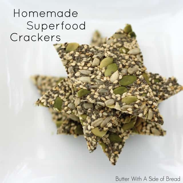 HOMEMADE SUPERFOOD CRACKERS: Butter With A Side of Bread