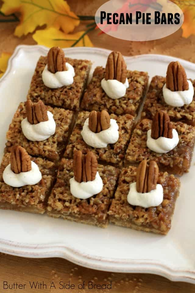 Pecan Pie Bars are easy to make and taste better than pecan pie! With pecans, brown sugar and butter, it's a Fall recipe that's become a family favorite in our house.