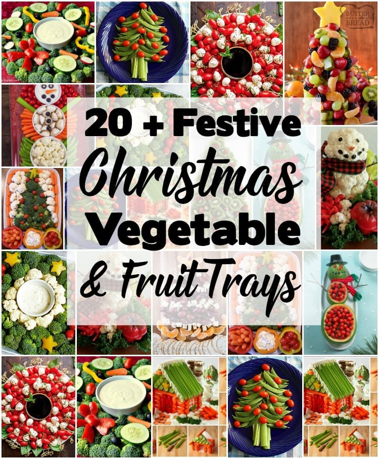 Festive Christmas Veggie Trays Platters Butter With A