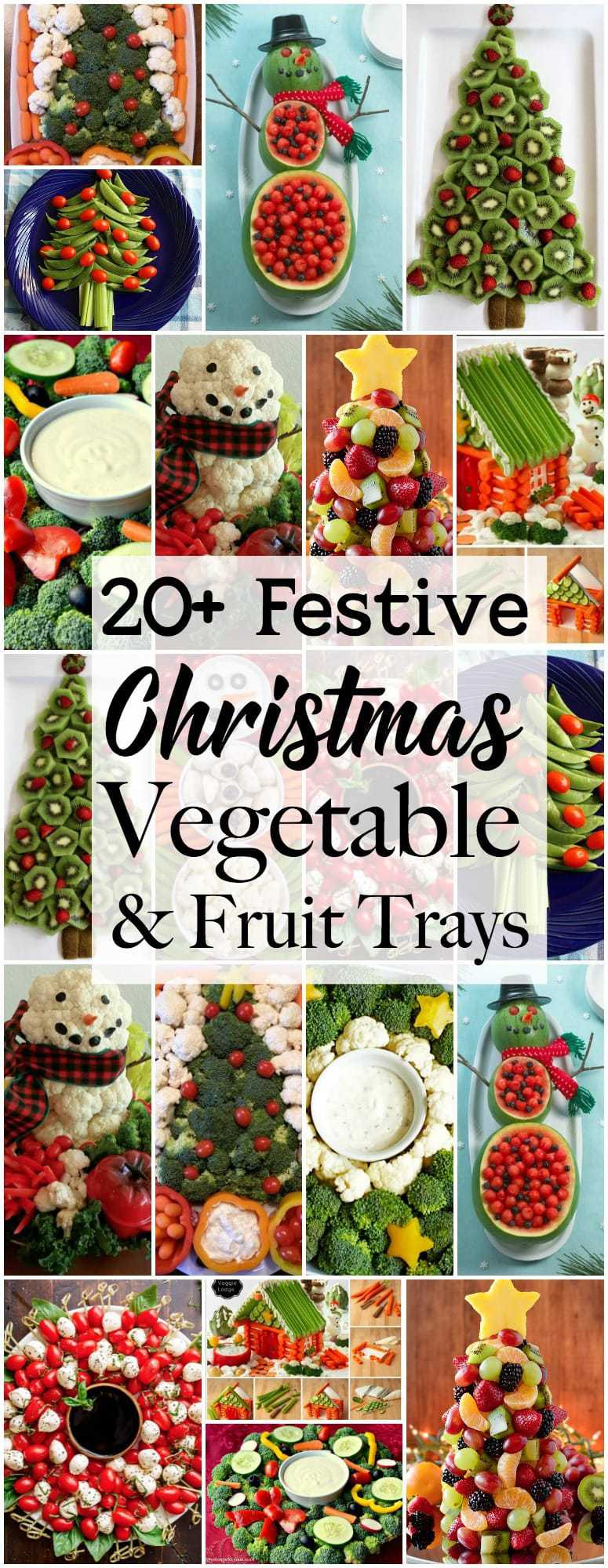 Holiday Vegetable Trays are festive, easy to make, healthy & delicious! Add fun to your Christmas table with one of these great veggie tray ideas. Fun fruit tray ideas also featured!