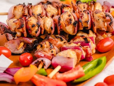 Grilled Ranch Bacon Chicken Kabobs recipe