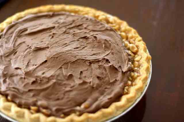 CHOCOLATE CARAMEL TURTLE PIE: Butter With A Side of Bread