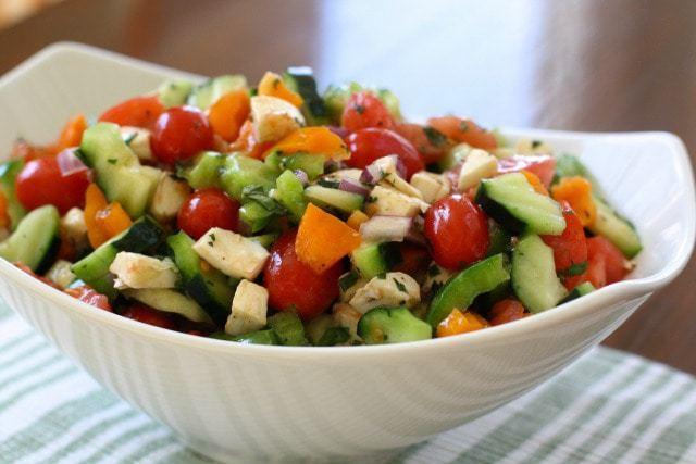 Garden Vegetable Caprese Salad.IMG_0018