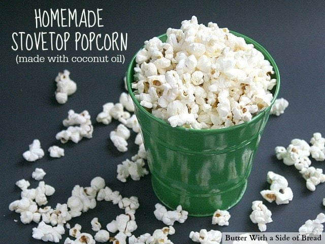 Butter With a Side of Bread - Homemade Stovetop Popcorn