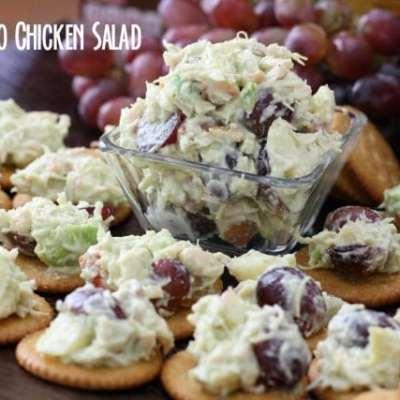 AVOCADO CHICKEN SALAD topped RITZ® CRACKERS