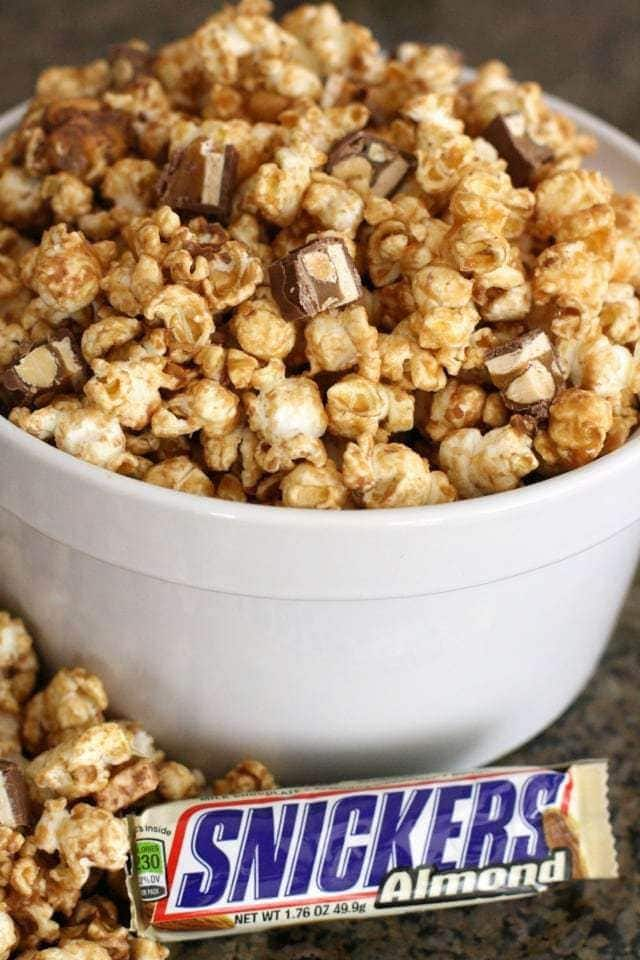 SNICKERS® Peanut Butter Popcorn ~ Butter With A Side of Bread