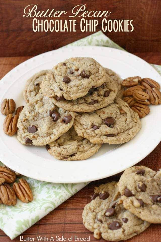 Butter Pecan Chocolate Chip Cookies - Butter With A Side of Bread