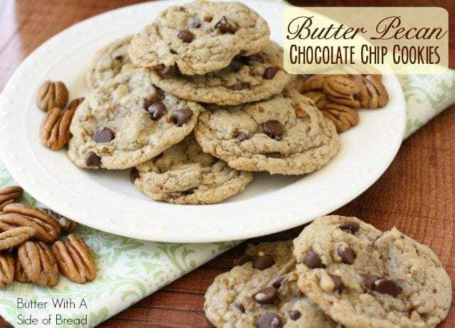 Butter Pecan Chocolate Chip Cookies Butter With A Side Of